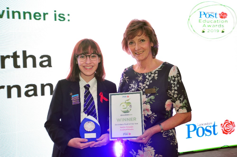 LP Awards - Martha is Secondary Pupil of the Year 2019
