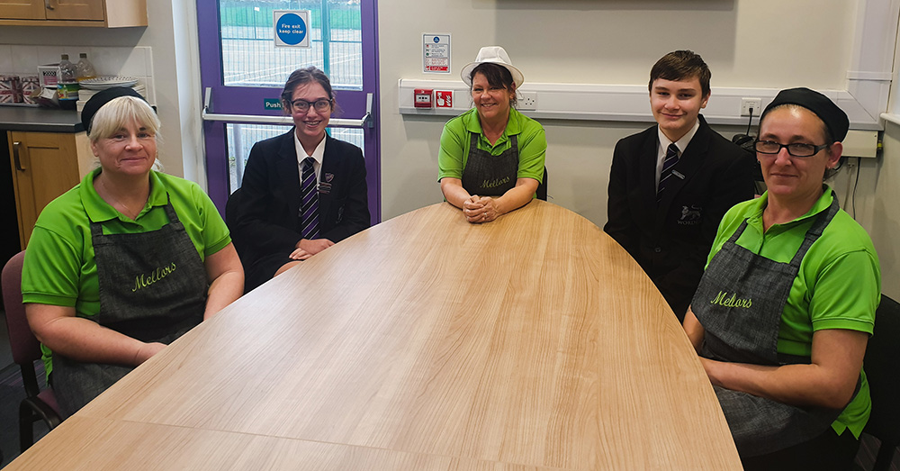 The Student Council meeting  Mellors catering staff at Worden